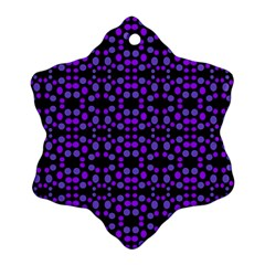 Dots Pattern Purple Snowflake Ornament (2 Side) by BrightVibesDesign