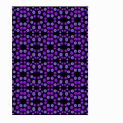 Dots Pattern Purple Large Garden Flag (two Sides) by BrightVibesDesign