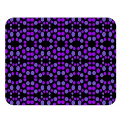 Dots Pattern Purple Double Sided Flano Blanket (large)  by BrightVibesDesign