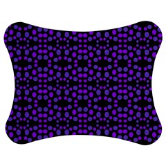 Dots Pattern Purple Jigsaw Puzzle Photo Stand (bow) by BrightVibesDesign