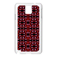 Dots Pattern Red Samsung Galaxy Note 3 N9005 Case (white) by BrightVibesDesign