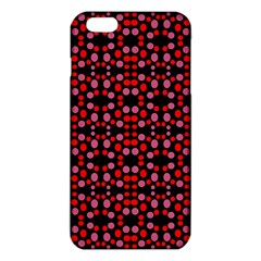 Dots Pattern Red Iphone 6 Plus/6s Plus Tpu Case by BrightVibesDesign