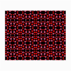 Dots Pattern Red Small Glasses Cloth by BrightVibesDesign