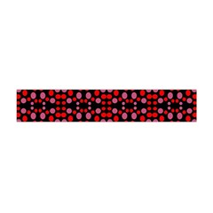 Dots Pattern Red Flano Scarf (mini) by BrightVibesDesign