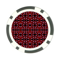 Dots Pattern Red Poker Chip Card Guards (10 Pack)  by BrightVibesDesign