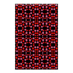 Dots Pattern Red Shower Curtain 48  X 72  (small)  by BrightVibesDesign