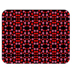Dots Pattern Red Double Sided Flano Blanket (medium)  by BrightVibesDesign