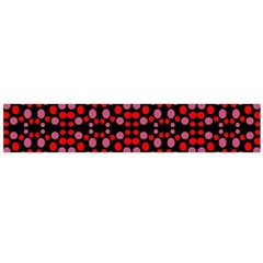Dots Pattern Red Flano Scarf (large)  by BrightVibesDesign