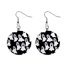 Halloween Ghosts Mini Button Earrings by BubbSnugg