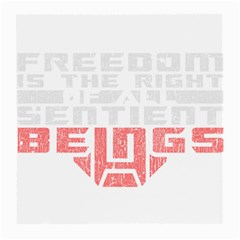Freedom Is The Right Grunge Medium Glasses Cloth by justinwhitdesigns