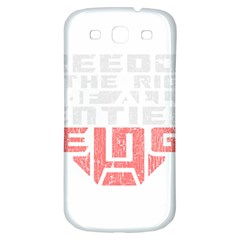 Freedom Is The Right Grunge Samsung Galaxy S3 S Iii Classic Hardshell Back Case by justinwhitdesigns
