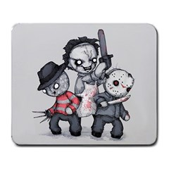 Horror Trifecta Plushie  Large Mousepads by lvbart