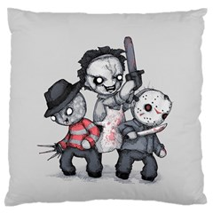 Horror Trifecta Plushie  Standard Flano Cushion Case (one Side) by lvbart