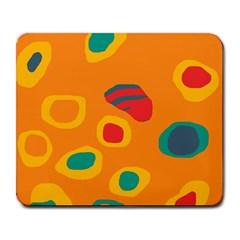 Orange Abstraction Large Mousepads by Valentinaart