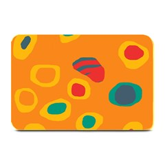 Orange Abstraction Plate Mats by Valentinaart