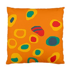 Orange Abstraction Standard Cushion Case (one Side) by Valentinaart