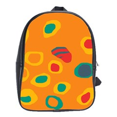 Orange Abstraction School Bags(large)  by Valentinaart