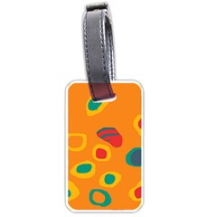 Orange Abstraction Luggage Tags (two Sides) by Valentinaart