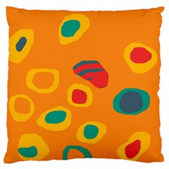 Orange Abstraction Standard Flano Cushion Case (two Sides) by Valentinaart