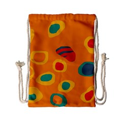 Orange Abstraction Drawstring Bag (small) by Valentinaart