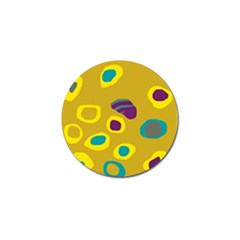Yellow Abstraction Golf Ball Marker by Valentinaart