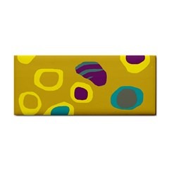 Yellow Abstraction Hand Towel by Valentinaart