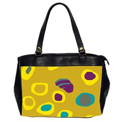 Yellow Abstraction Office Handbags (2 Sides)  by Valentinaart