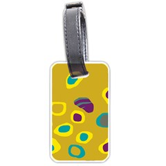 Yellow Abstraction Luggage Tags (two Sides) by Valentinaart