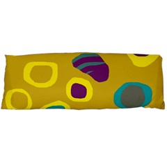 Yellow Abstraction Body Pillow Case Dakimakura (two Sides) by Valentinaart