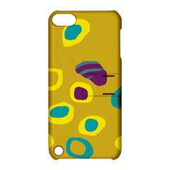 Yellow Abstraction Apple Ipod Touch 5 Hardshell Case With Stand by Valentinaart