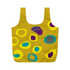 Yellow Abstraction Full Print Recycle Bags (m)  by Valentinaart