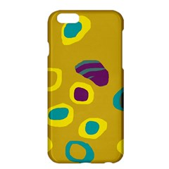 Yellow Abstraction Apple Iphone 6 Plus/6s Plus Hardshell Case by Valentinaart