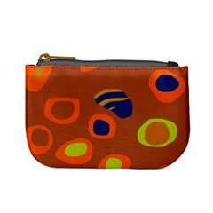 Orange Abstraction Mini Coin Purses by Valentinaart