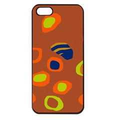 Orange Abstraction Apple Iphone 5 Seamless Case (black) by Valentinaart