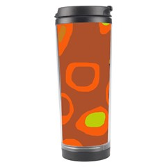 Orange Abstraction Travel Tumbler by Valentinaart