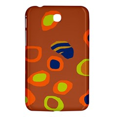 Orange Abstraction Samsung Galaxy Tab 3 (7 ) P3200 Hardshell Case  by Valentinaart
