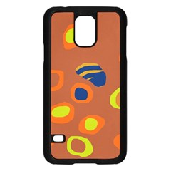 Orange Abstraction Samsung Galaxy S5 Case (black) by Valentinaart