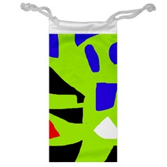 Green Abstraction Jewelry Bags by Valentinaart