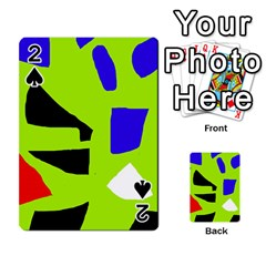 Green Abstraction Playing Cards 54 Designs  by Valentinaart