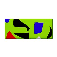 Green Abstraction Hand Towel by Valentinaart