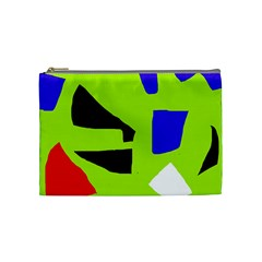 Green Abstraction Cosmetic Bag (medium)  by Valentinaart