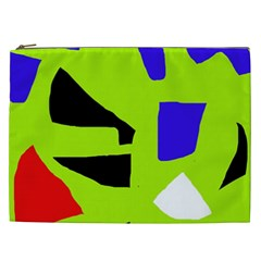Green Abstraction Cosmetic Bag (xxl)  by Valentinaart