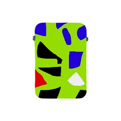 Green Abstraction Apple Ipad Mini Protective Soft Cases by Valentinaart
