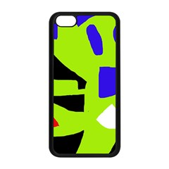 Green Abstraction Apple Iphone 5c Seamless Case (black) by Valentinaart