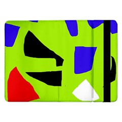 Green Abstraction Samsung Galaxy Tab Pro 12 2  Flip Case by Valentinaart
