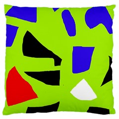 Green Abstraction Standard Flano Cushion Case (one Side)