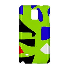 Green Abstraction Samsung Galaxy Note 4 Hardshell Case by Valentinaart
