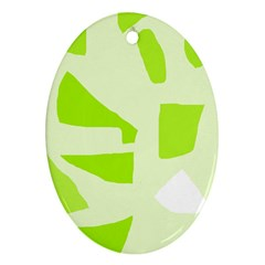 Green Abstract Design Ornament (oval)