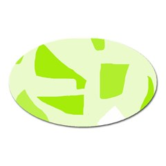 Green Abstract Design Oval Magnet by Valentinaart