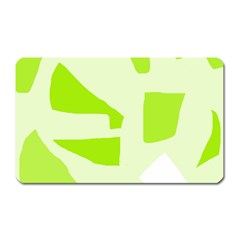 Green Abstract Design Magnet (rectangular) by Valentinaart